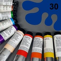 Profesionální olejová barva UMTON, 60 ml, odstín permanentní modř. Kvalitní, odolné, světlostálé pigmenty.