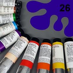 Profesionální olejová barva UMTON, 60 ml, odstín ultramarin tmavý. Kvalitní, odolné, světlostálé pigmenty.