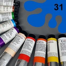 Profesionální olejová barva UMTON, 60 ml, odstín kobalt světlý. Kvalitní, odolné, světlostálé pigmenty.