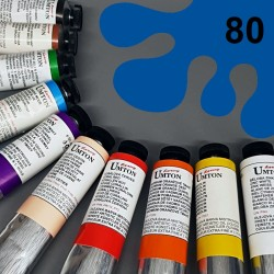 Profesionální olejová barva UMTON, 60 ml, odstín kobalt atlantik. Kvalitní, odolné, světlostálé pigmenty.