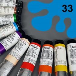 Profesionální olejová barva UMTON, 60 ml, odstín coelinová modř. Kvalitní, odolné, světlostálé pigmenty.
