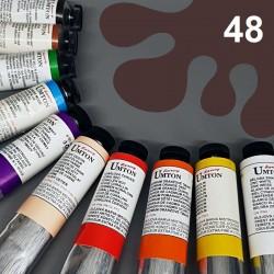 Profesionální olejová barva UMTON, 60 ml, odstín van Dyckova hněď. Kvalitní, odolné, světlostálé pigmenty.