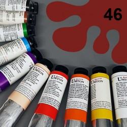 Profesionální olejová barva UMTON, 60 ml, odstín anglická červeň. Kvalitní, odolné, světlostálé pigmenty.