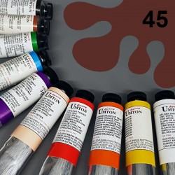 Profesionální olejová barva UMTON, 60 ml, odstín indická červeň. Kvalitní, odolné, světlostálé pigmenty.