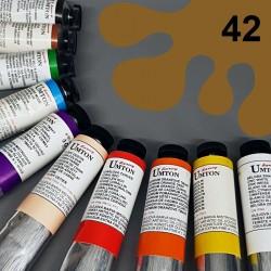 Profesionální olejová barva UMTON, 60 ml, odstín siena přírodní. Kvalitní, odolné, světlostálé pigmenty.