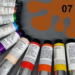 Profesionální olejová barva UMTON, 60 ml, odstín okr červený. Kvalitní, odolné, světlostálé pigmenty.