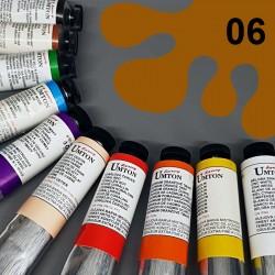 Profesionální olejová barva UMTON, 60 ml, odstín okr tmavý. Kvalitní, odolné, světlostálé pigmenty.