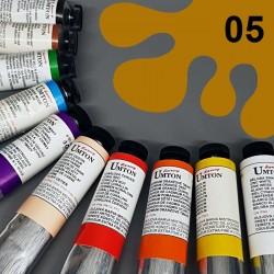 Profesionální olejová barva UMTON, 60 ml, odstín okr světlý. Kvalitní, odolné, světlostálé pigmenty.