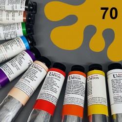 Profesionální olejová barva UMTON, 60 ml, odstín železitá žluť. Kvalitní, odolné, světlostálé pigmenty.