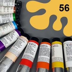 Profesionální olejová barva UMTON, 60 ml, odstín neapolská žluť tmavá. Kvalitní, odolné, světlostálé pigmenty.