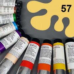 Profesionální olejová barva UMTON, 60 ml, odstín neapolská žluť světlá. Kvalitní, odolné, světlostálé pigmenty.
