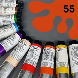 Profesionální olejová barva UMTON, 60 ml, odstín permanentní červeň světlá. Kvalitní, odolné, světlostálé pigmenty.