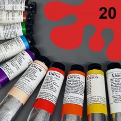 Profesionální olejová barva UMTON, 60 ml, odstín korálová červeň. Kvalitní, odolné, světlostálé pigmenty.