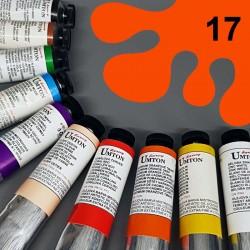 Profesionální olejová barva UMTON, 60 ml, odstín kadmium červené světlé. Kvalitní, odolné, světlostálé pigmenty.