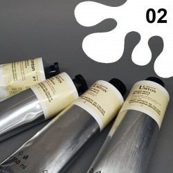 Profesionální olejová barva UMTON, 150 ml, odstín běloba titanová. Kvalitní, odolné, světlostálé pigmenty.