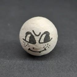 Vat. hlava, čarodějnice, úsměv, vhodné pro dekoraci a další dotvoření, například figurky nebo loutky