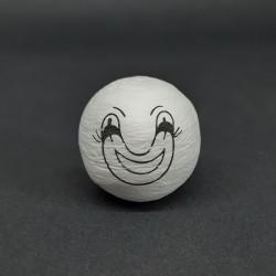 Vatová hlava, klaun, 31mm, vhodné pro dekoraci a další dotvoření, například figurky nebo loutky