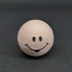 Vatová hlava, tělová, nezbeda, 24mm, vhodné pro dekoraci a další dotvoření, například figurky nebo loutky