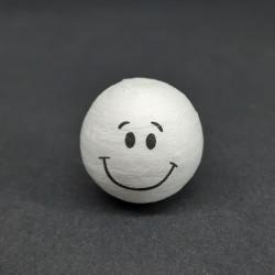 Vatová koule, smile, vhodné jako dekorace i pro různá dotvoření