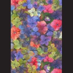 Fotokarton  A4 květy, tvrdý karton 300g vhodný na výrobu přání, tvoření s dětmi, scrapbook a další tvoření