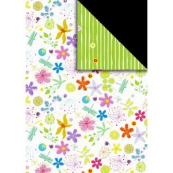 Fotokarton  A4 květy / vážka, tvrdý karton 300g vhodný na výrobu přání, tvoření s dětmi, scrapbook a další tvoření