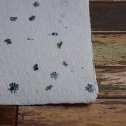 Ruční papír - květinový zimní, A4