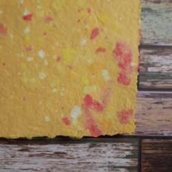 Ruční papír  kombinovaný žlutý A4