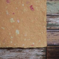 Ruční papír  kombinovaný oranžový A4