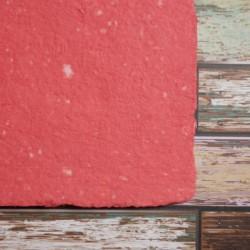 Ruční papír  kombinovaný červený A4