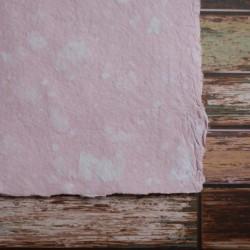 Ruční papír  kombinovaný růžový A4