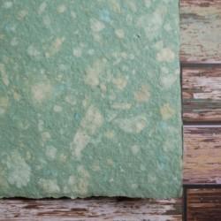 Ruční papír  kombinovaný zelený A4