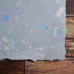 Ruční papír  kombinovaný modrý A4