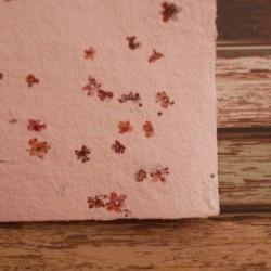 Ruční papír - květinový růžový, A4