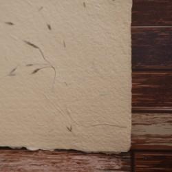 Ruční papír trávový žlutý A4