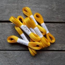 Taftová stuha, žlutá, 4 mm x 10 m, mašle, vhodné pro dekoraci, dárková balení, scrapbooking a další kreativní tvoření.