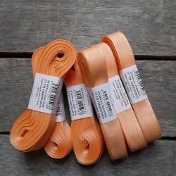 Taftová stuha, světle oranžová, 15 mm x 10 m, mašle, vhodné pro dekoraci, dárková balení, scrapbooking a další kreativní tvoření