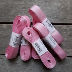 Taftová stuha, bledě růžová, 15 mm x 10 m, mašle, vhodné pro dekoraci, dárková balení, scrapbooking a další kreativní tvoření.