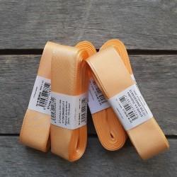Taftová stuha, světle oranžová, 25 mm x 10 m, mašle, vhodné pro dekoraci, dárková balení, scrapbooking a další kreativní tvořen