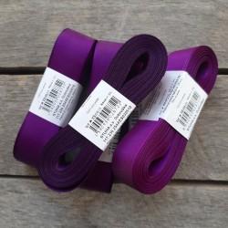 Taftová stuha, tmavě fialová, 25 mm x 10 m, mašle, vhodné pro dekoraci, dárková balení, scrapbooking a další kreativní tvoření.