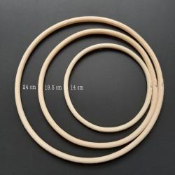 Dřevěný kroužek na lapač snů, 24 cm, vhodné na výrobu lapačů snů a jiných dekorací.
