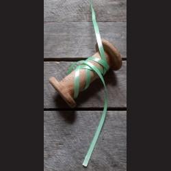 Atlasová stuha, pastelově zelená, 6 mm x 32 m, mašle, vhodné pro dekoraci, dárková balení, scrapbooking a další kreativní tvořen