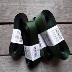 Taftová stuha, tmavě zelená, 25 mm x 10 m, mašle, vhodné pro dekoraci, dárková balení, scrapbooking a další kreativní tvoření.