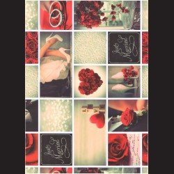 Fotokarton  A4 svatební motiv, tvrdý karton 300g na přání, scrapbook,  tvoření s dětmi