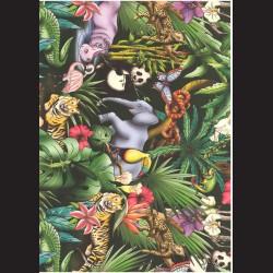 Fotokarton  A4 džungle tvrdý karton 300g vhodný na výrobu přání, tvoření s dětmi, scrapbook a další tvoření