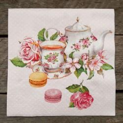 Ubrousky na decoupage, ubrousky na dekupáž, ubrousky na ubrouskovou techniku, dekorativní ubrousky, ubrousek čajová souprava