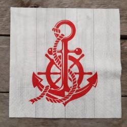 Ubrousky na decoupage kotva, ubrousky na dekupáž, ubrousky na ubrouskovou techniku, dekorativní ubrousky, námořnický ubrousek