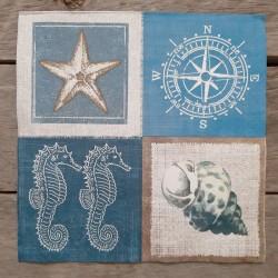 Ubrousky na decoupage moře, ubrousky na dekupáž, ubrousky na ubrouskovou techniku, dekorativní ubrousky, ubrousky s námořnickým