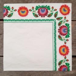 Ubrousky na decoupage folklor, ubrousky na dekupáž, ubrousky na ubrouskovou techniku, dekorativní ubrousky, ubrousek a květinami