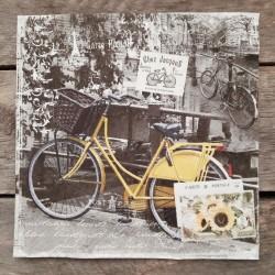 Ubrousky na decoupage kolo vintage, ubrousky na dekupáž, ubrousky na ubrouskovou techniku, dekorativní ubrousky, ubrousek s kole