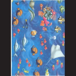 Fotokarton  A4 ryby, tvrdý karton 300g vhodný na výrobu přání, tvoření s dětmi, scrapbook a další tvoření